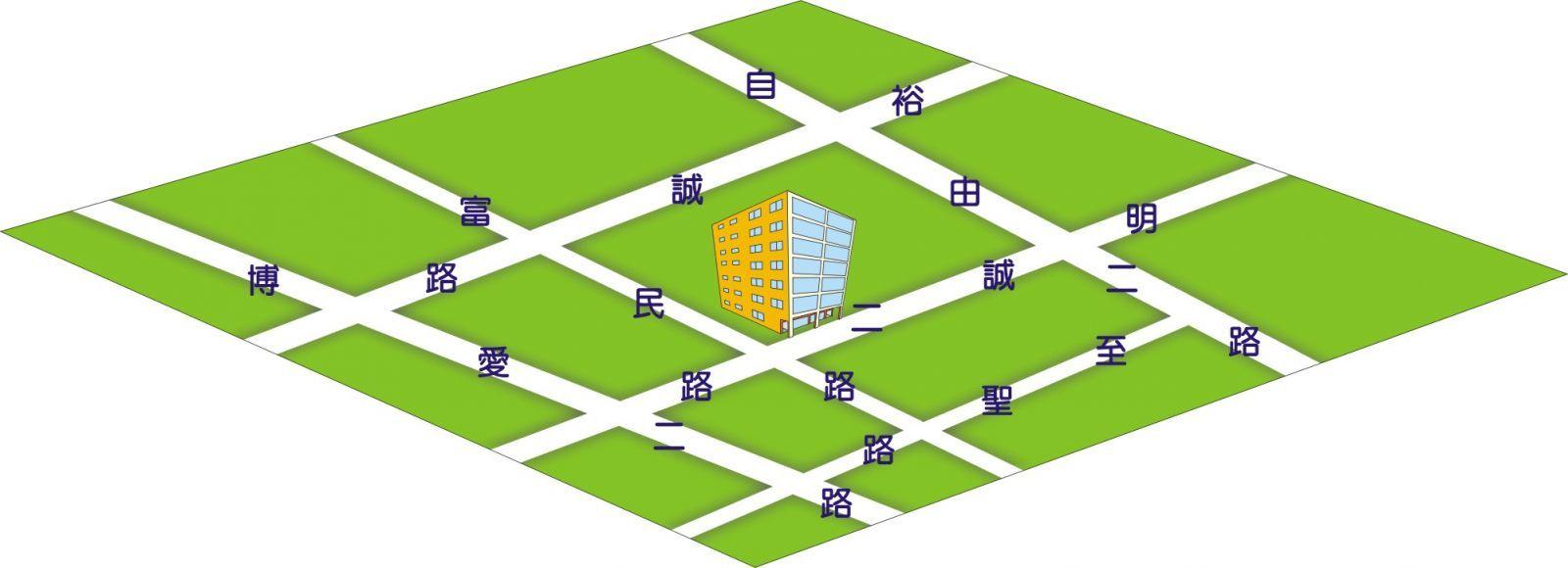 冠盛Q版地圖位置圖